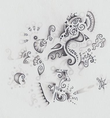 pencil abstract doodle by ushiyasha