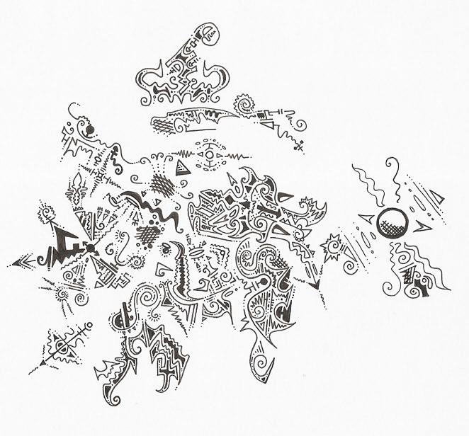 abstract doodle by ushiyasha
