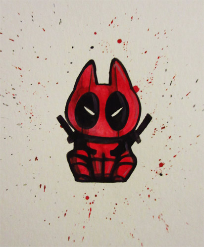 Kitty Deadpool by ushiyasha