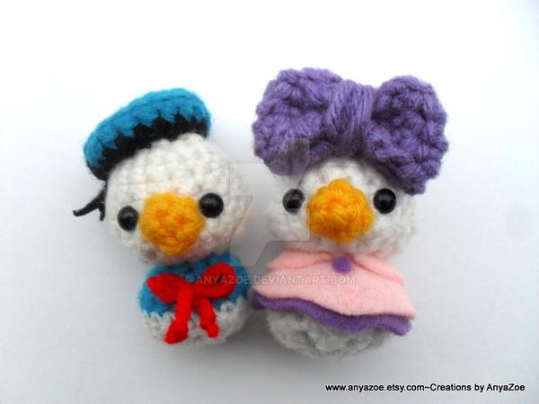 Amigurumi Donald Duck : Donald and Daisy Duck Dolls by AnyaZoe on DeviantArt