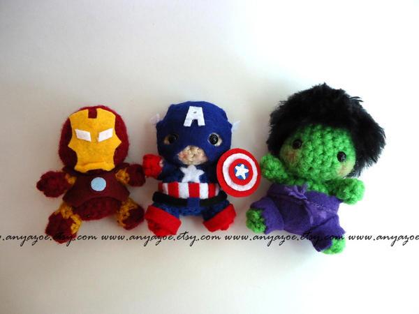 Avengers amigurumi WIP by AnyaZoe