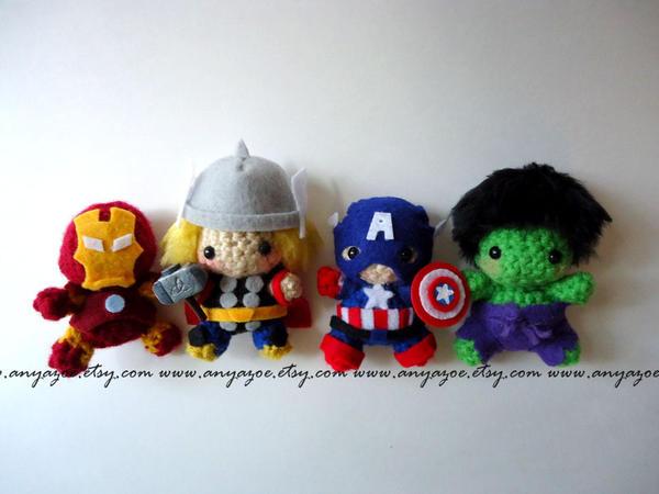 Avengers amigurumi by AnyaZoe