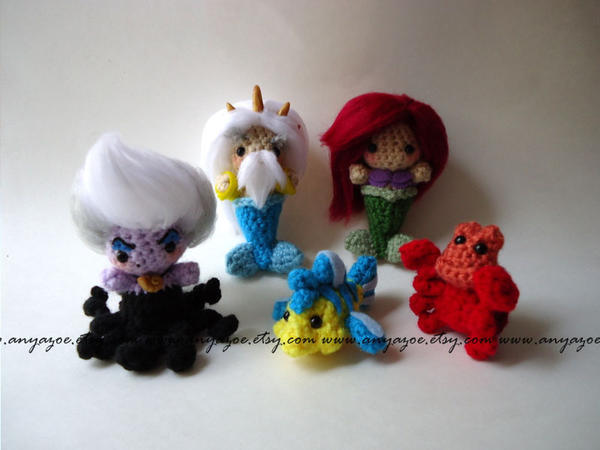 WIP Little Mermaid Amigurumi Set by AnyaZoe