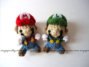 Mario and Luigi Amigurumi
