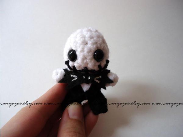 Mini Jack Skellington Amigurumi by AnyaZoe
