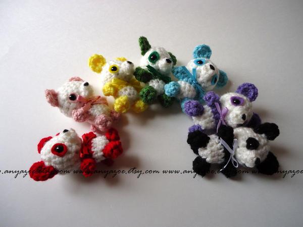Panda Rainbow Amigurumi by AnyaZoe