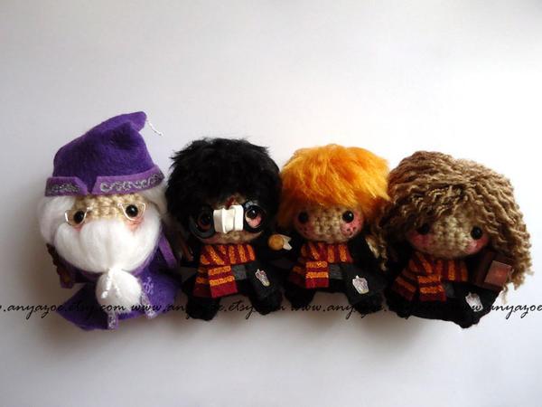Amigurumi Harry Potter : Harry Potter Amigurumi Set by AnyaZoe on deviantART