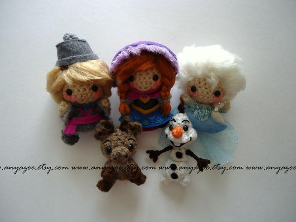 Frozen Amigurumi Set by AnyaZoe