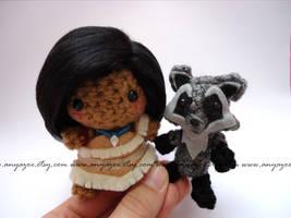 Pocahontas and Meeko Amigurumi by AnyaZoe