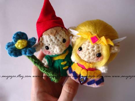 Zelda and Minish Amigurumi