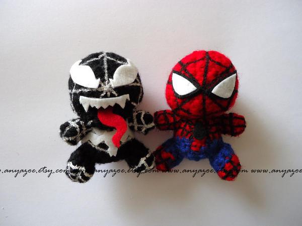 Spiderman and Venom Amigurumi by AnyaZoe on DeviantArt