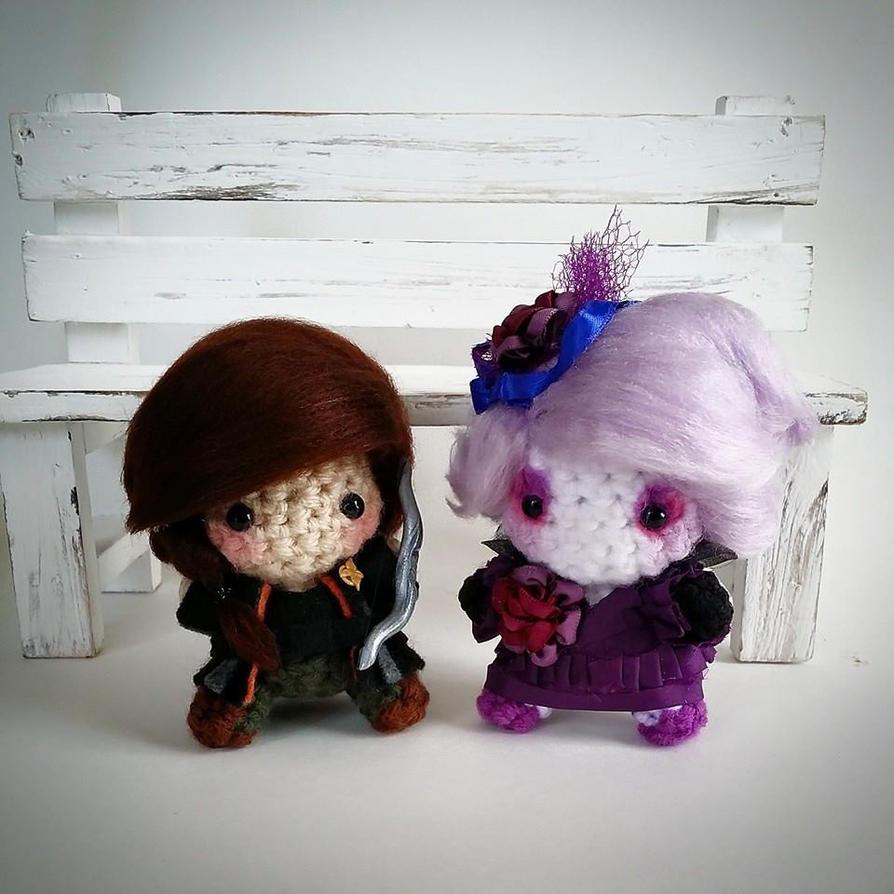 Katniss and Effie Amigurumi by AnyaZoe