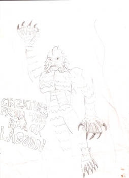 Creature from the Black Lagoon Redesign Drawing