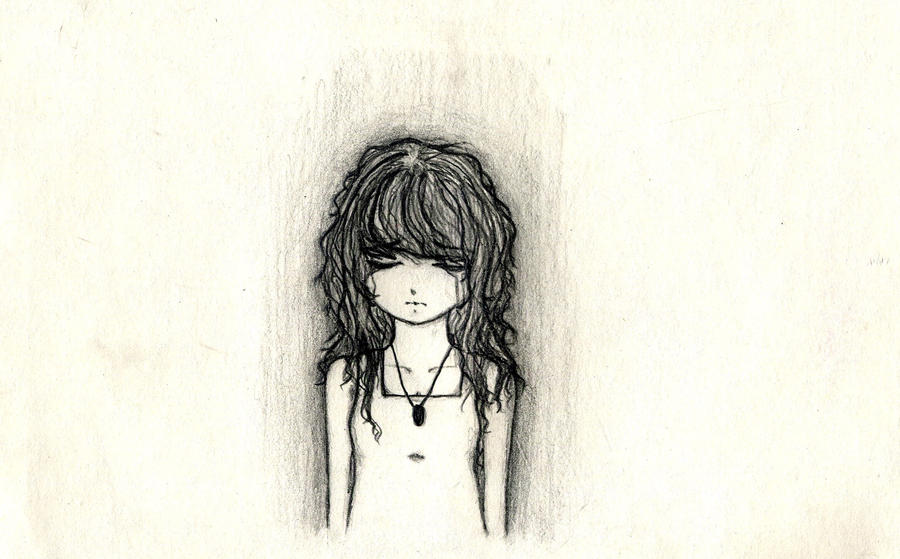 Drawings Sadness And Dark: Sad And Depressed By JunieNguyen On DeviantArt