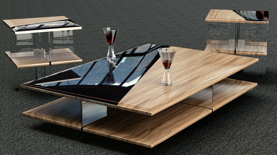 Coffee and side table set by GeckoNeon