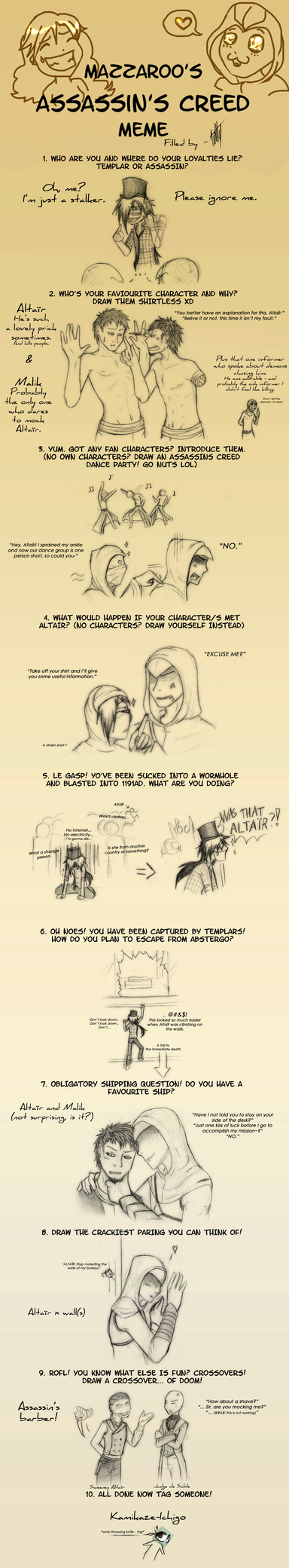 Assassin's Creed meme by K-Kit