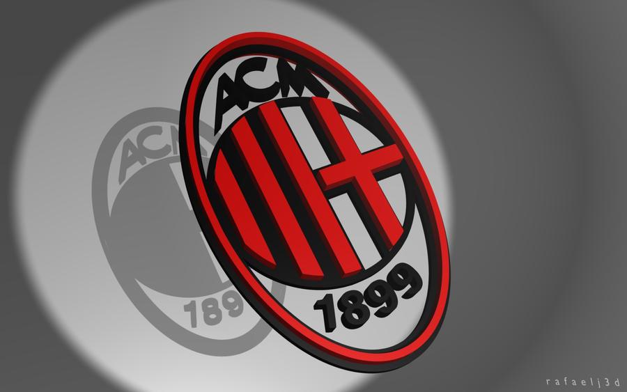 Ac Milan Logo Wallpaper 3d By Rafaelj3d On Deviantart