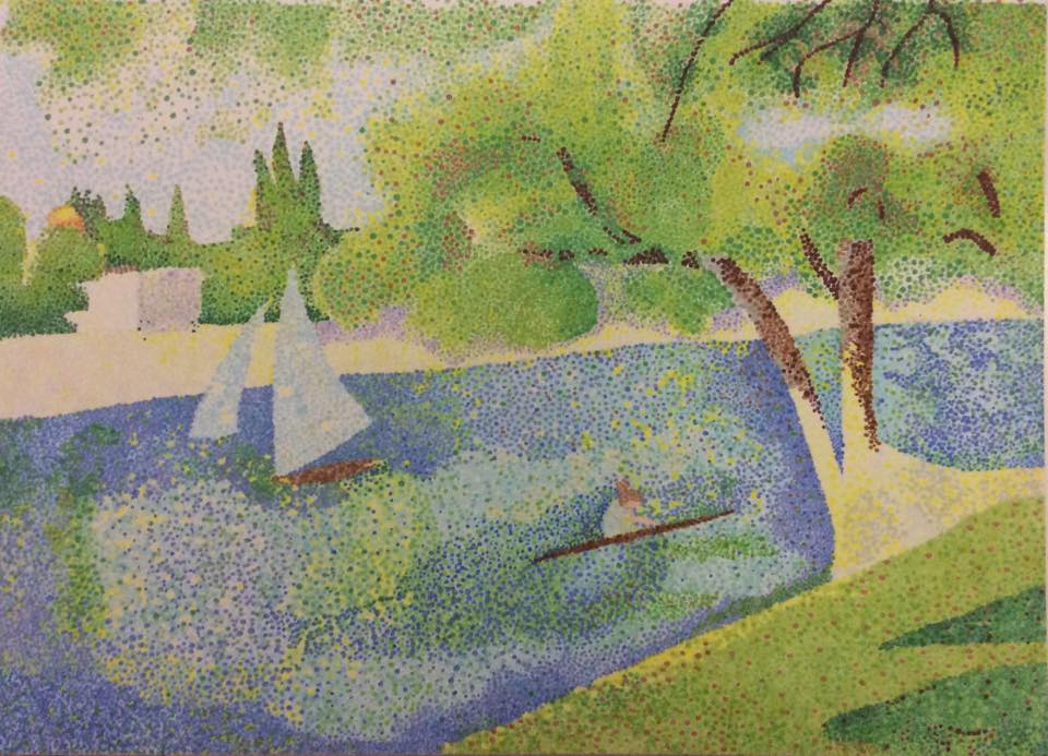 The Siene at la Grande Jatte by George Seurat,1888 by Nariku