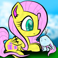 Fluttershy Loves Angel Bunny