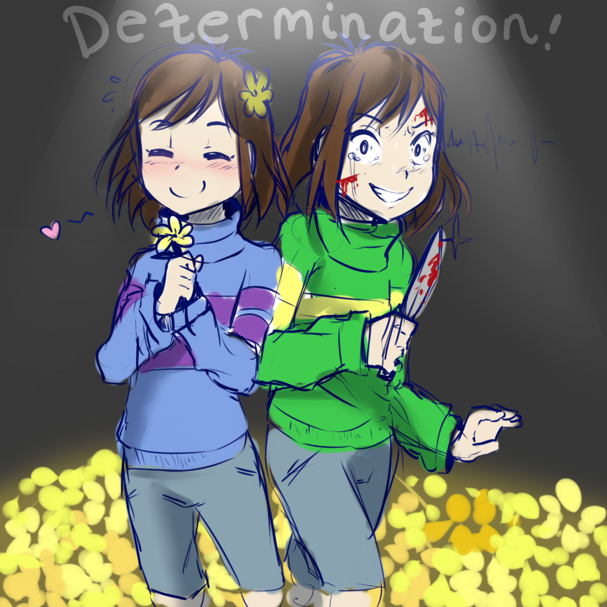 Chara And Frisk by meotashie on DeviantArt