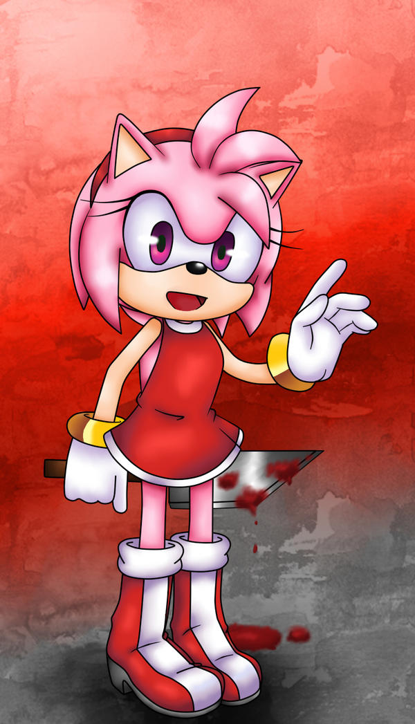 Amy Rose Gasai Yuno :speed paint: by heitor-jedi