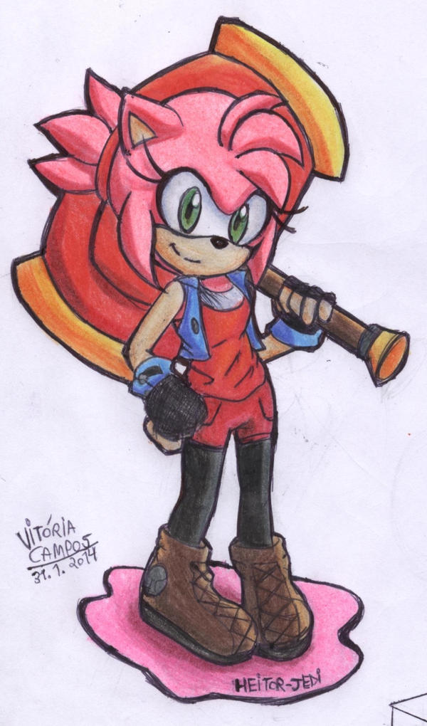 Amy Rose new style by heitor-jedi