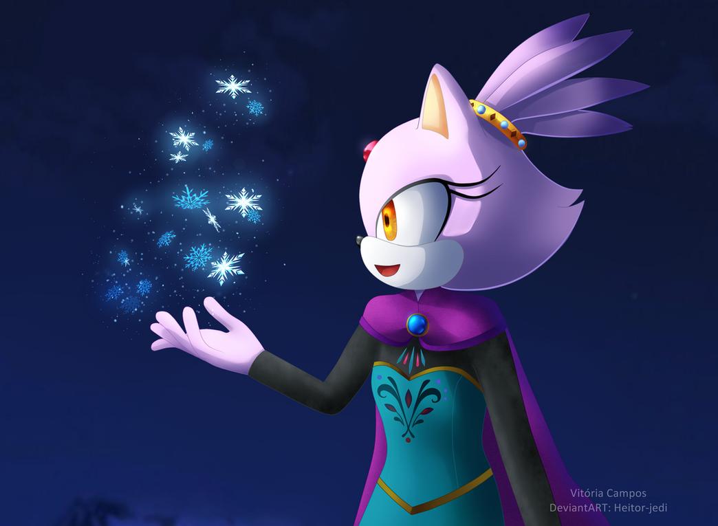 Blaze the cat-Cosplay Elsa FROZEN by heitor-jedi