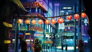 Night City Lights by SebastianKowoll