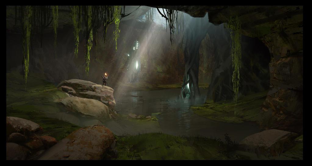 Swamp Cave 2 by SebastianKowoll
