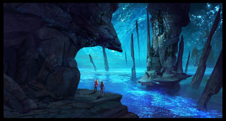 Ark: Aberration Blue Caves 2 by SebastianKowoll