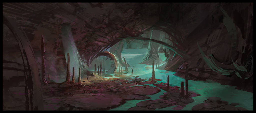 Ark: Aberration Blue Caves 3 by SebastianKowoll