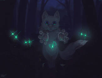 Cat in the dark by Terafima