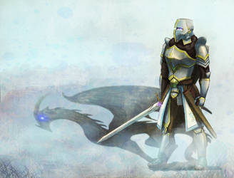 Knight (commission) by Terafima