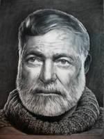 Ernest Hemingway by rampartpress