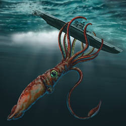 Giant Squid by rampartpress