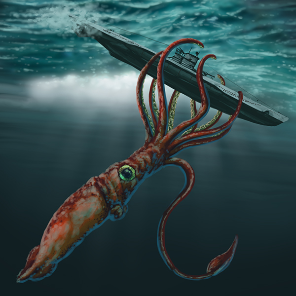 giant squid by rampartpress on deviantart