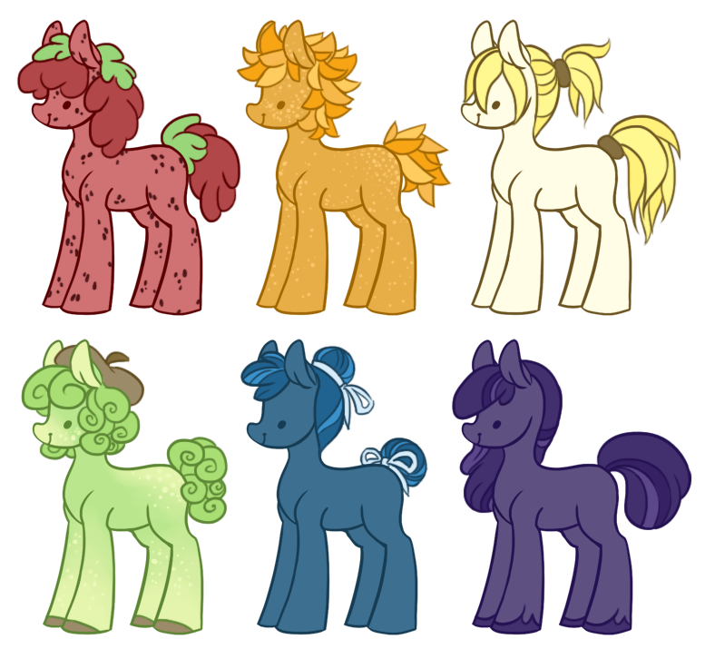 fruity ponies [0/6 CLOSED] by spideride