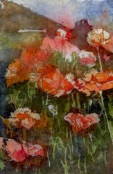 Watercolor Batik on Rice Paper by MeanBean06