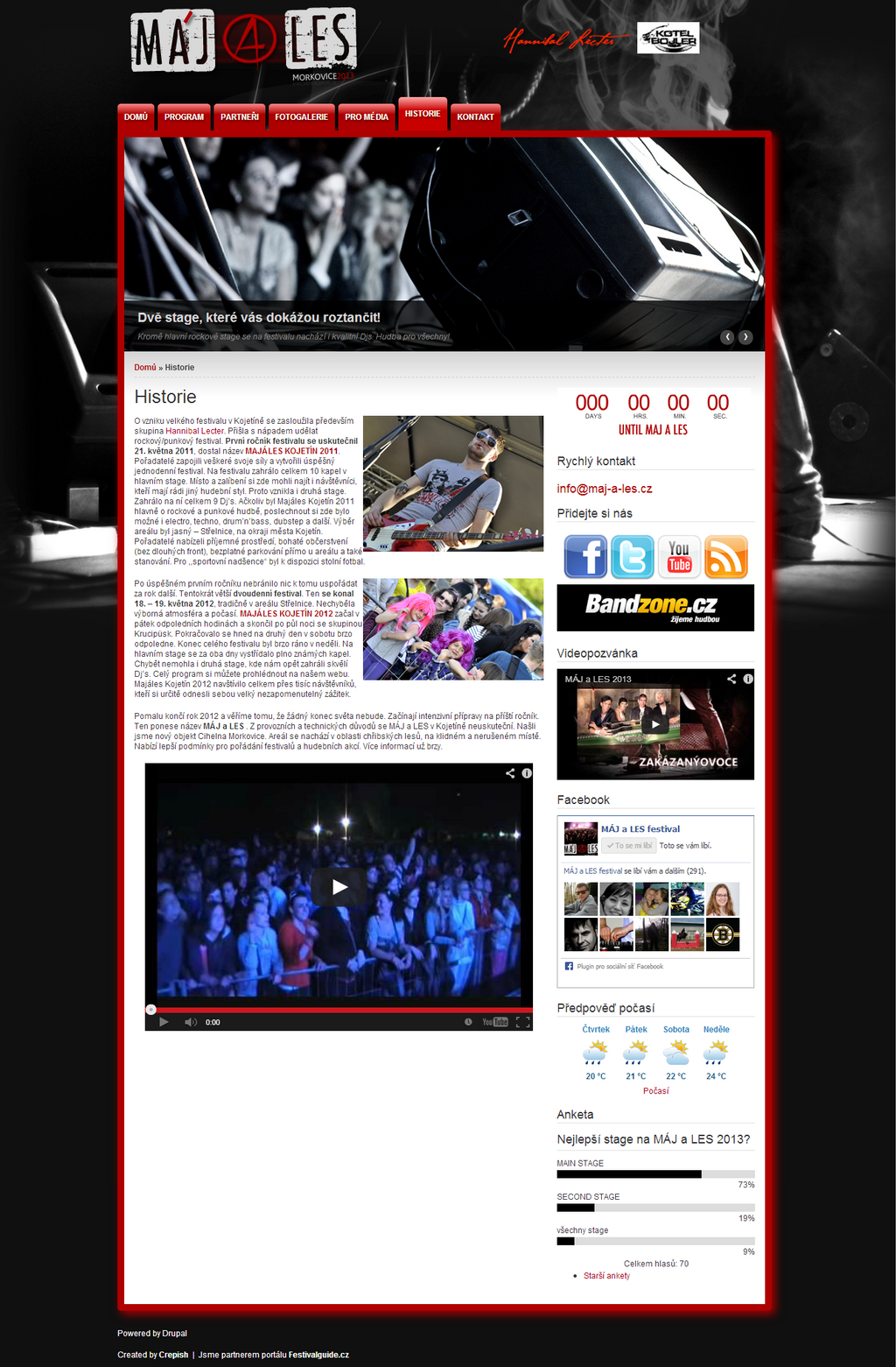 Maj a Les festival - webdesign CMS Drupal by crepish