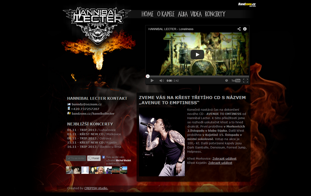 Hannibal Lecter webdesign by crepish