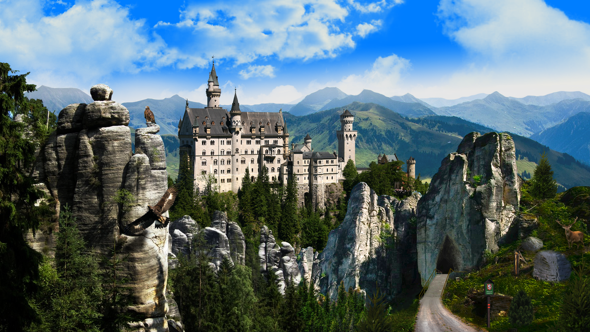Castle - Matte painting by crepish