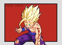 Teen Gohan Super Saiyan 2 - PixelArt
