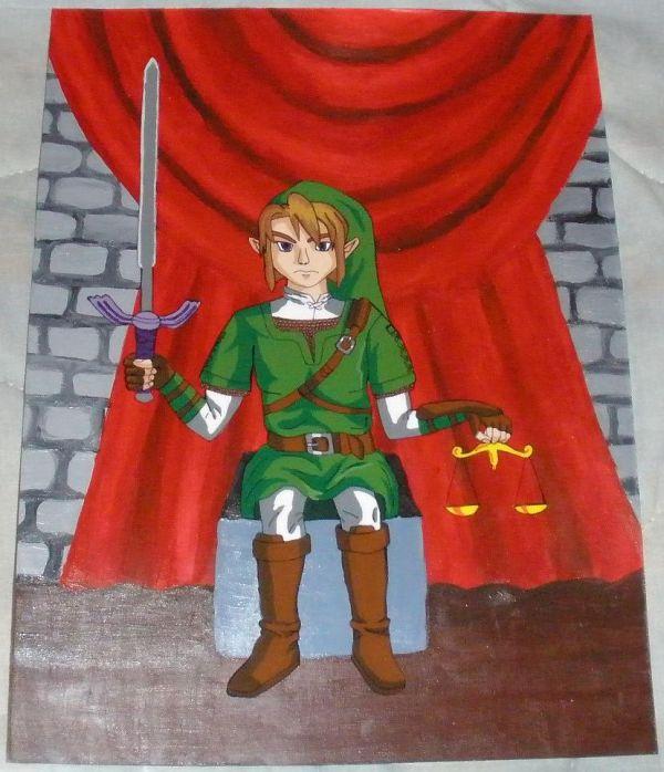 Zelda Tarot - XI Justice by ShinyLady