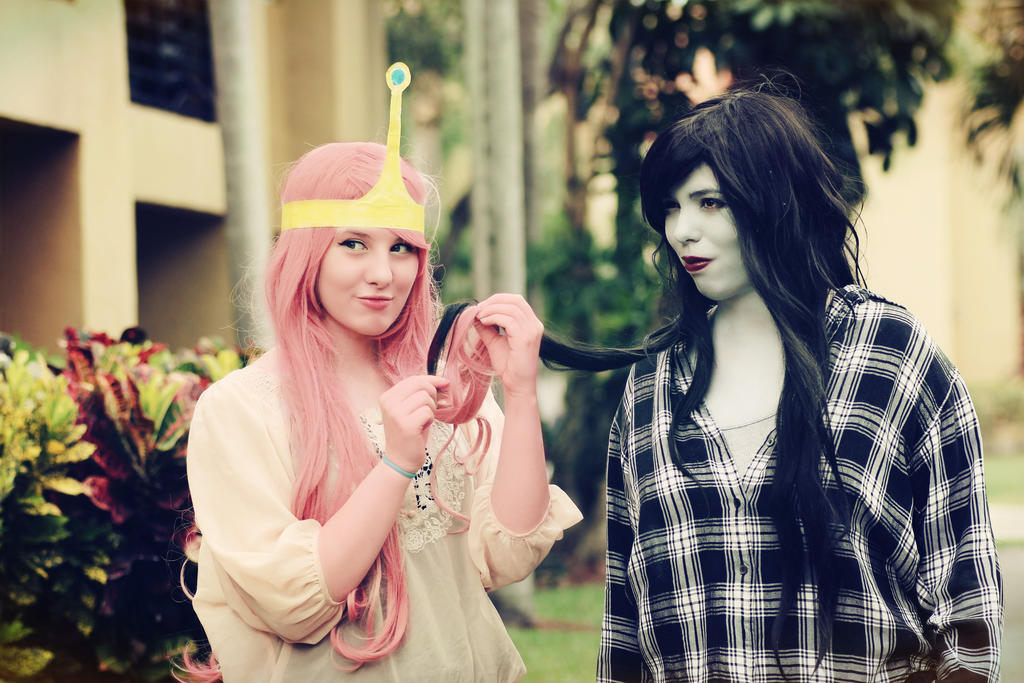 Marceline and bubblegum cosplay
