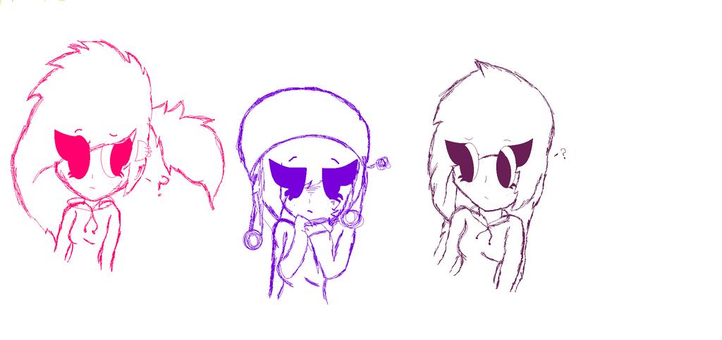 Alice,Ami and Cole [Sketch] by ToyAmiTheBunny