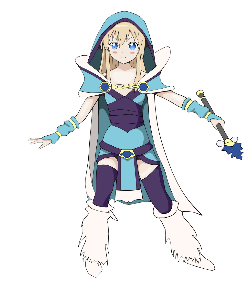 Toshinou Kyouko dressed as Crystal Maiden by jordan739