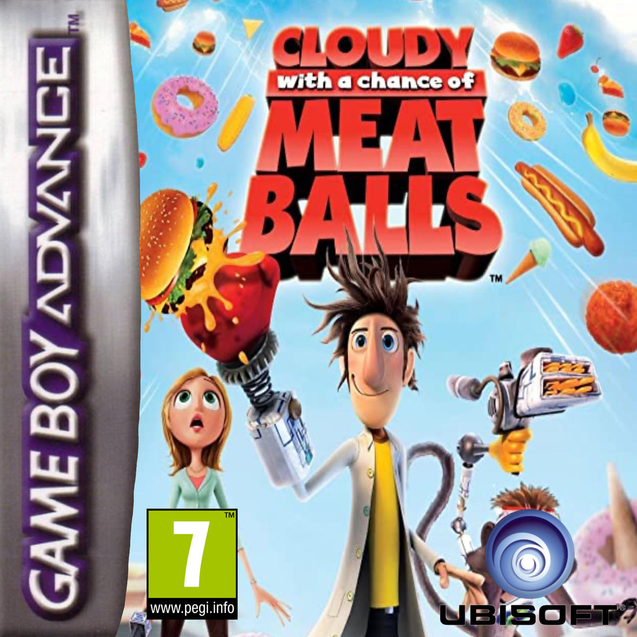 Cloudy With A Chance Of Meatballs 2009 Gba Box By Tjziomek On Deviantart