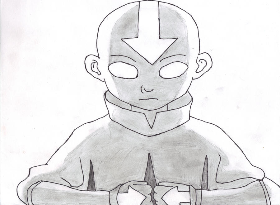 aang avatar state by johnx13