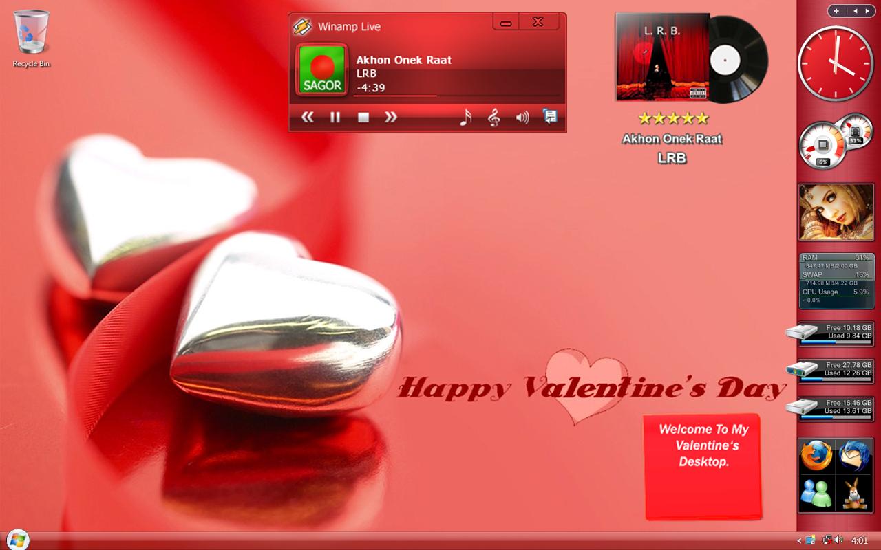 My Valentine's Desk by sagorpirbd