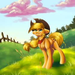 Applejack in a Field